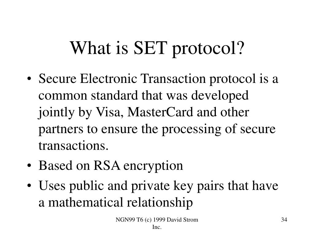 What is SET protocol?