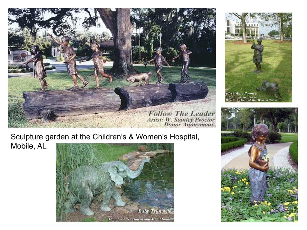 Sculpture garden at the Children's & Women's Hospital, Mobile, AL