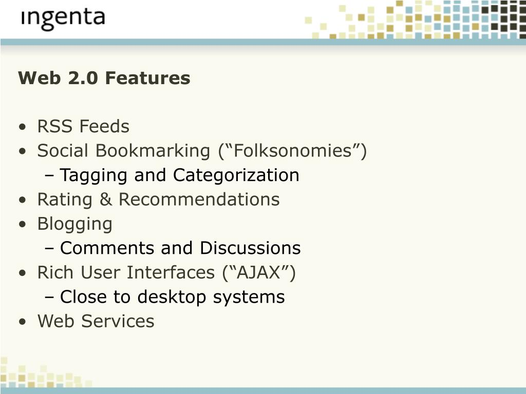 Web 2.0 Features