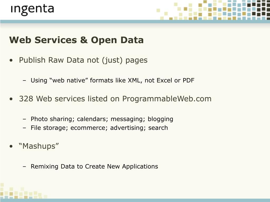Web Services & Open Data