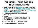 churchill club top ten tech trends 2006
