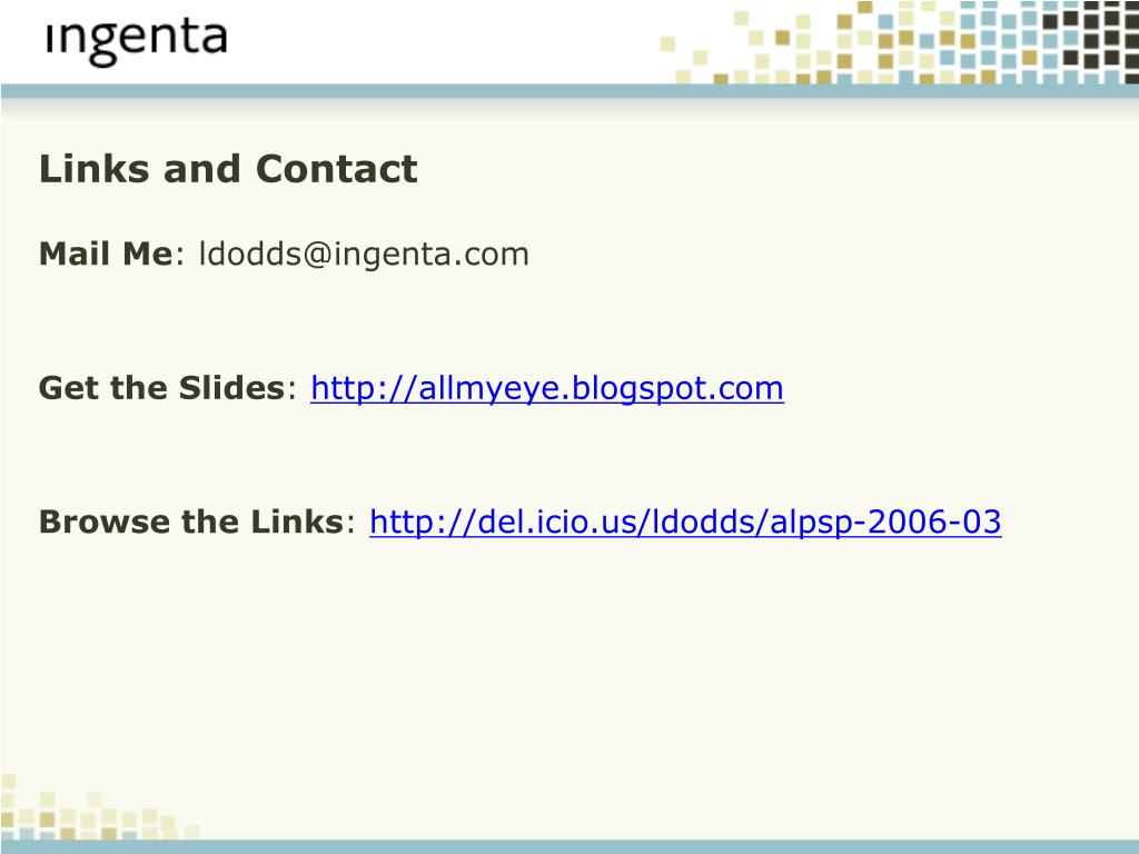 Links and Contact