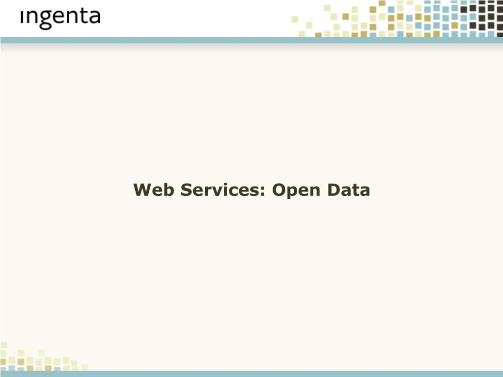 Web Services: Open Data