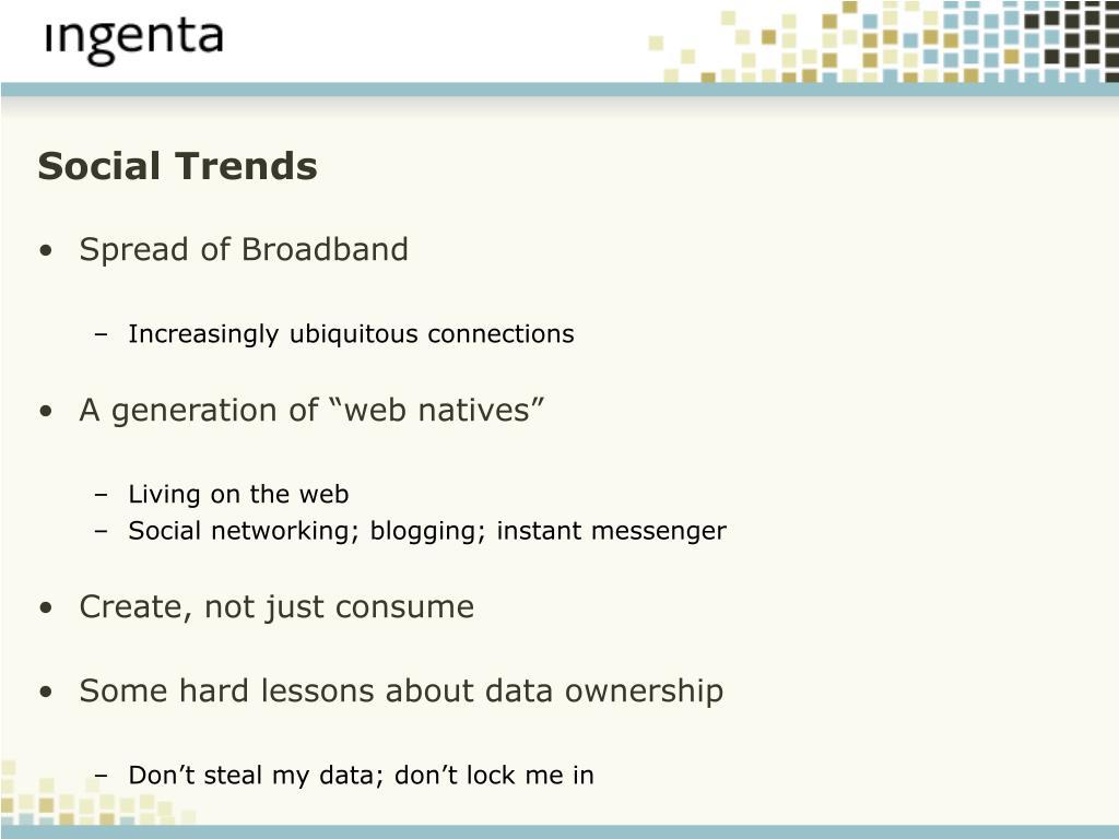 Social Trends