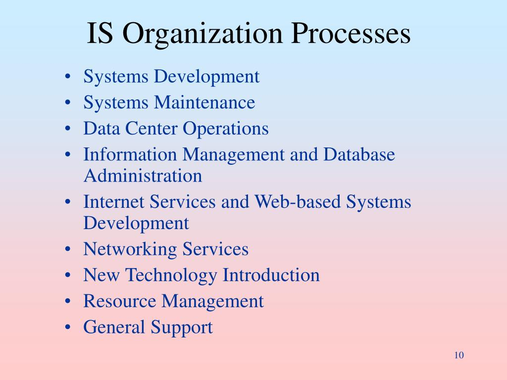 IS Organization Processes