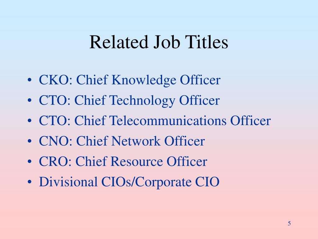 Related Job Titles