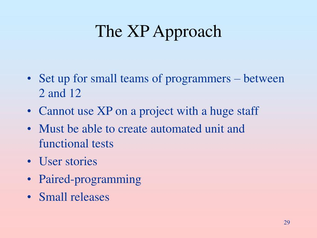 The XP Approach