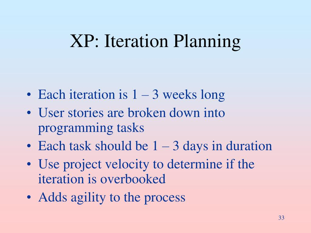 XP: Iteration Planning