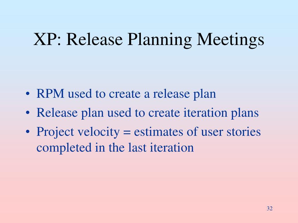 XP: Release Planning Meetings