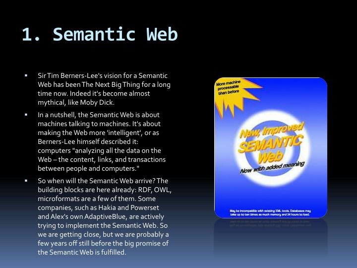 1 semantic web