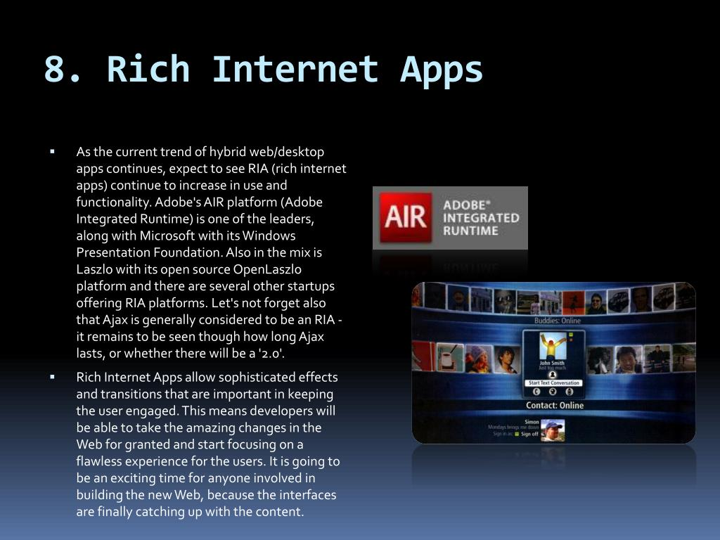 8. Rich Internet Apps