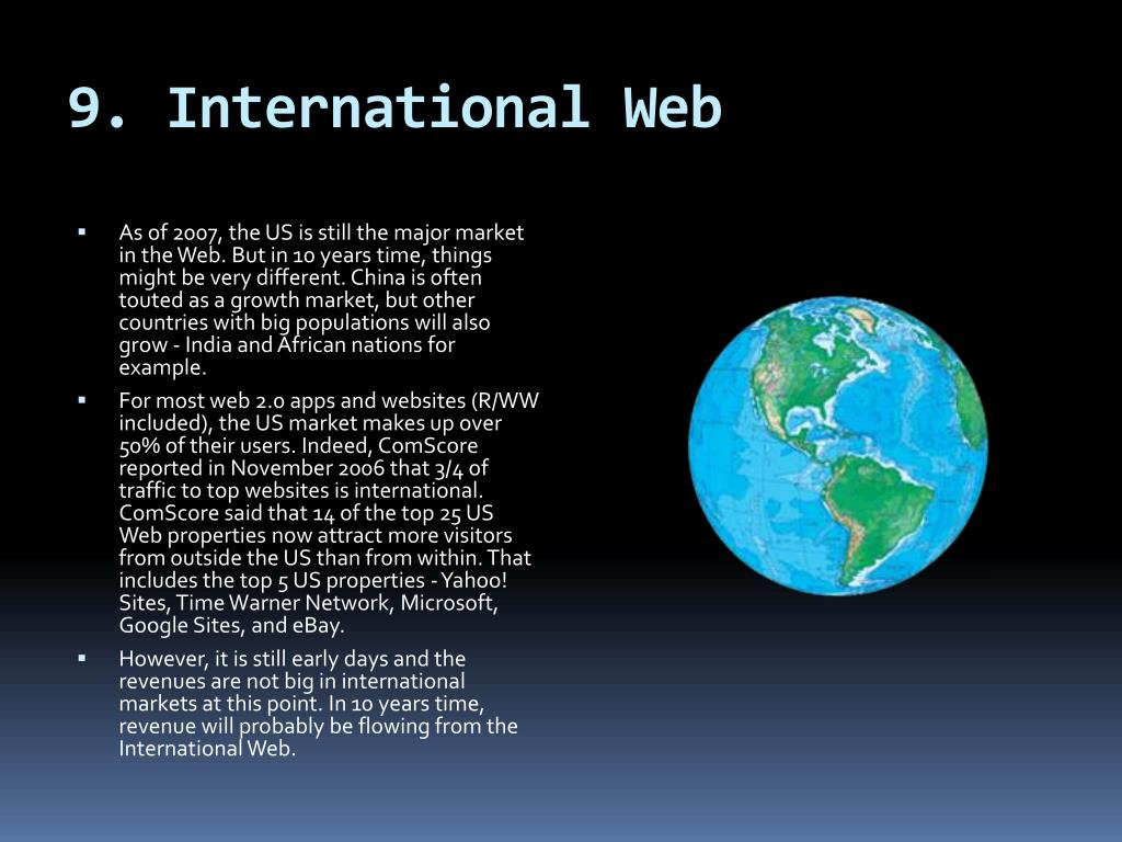 9. International Web