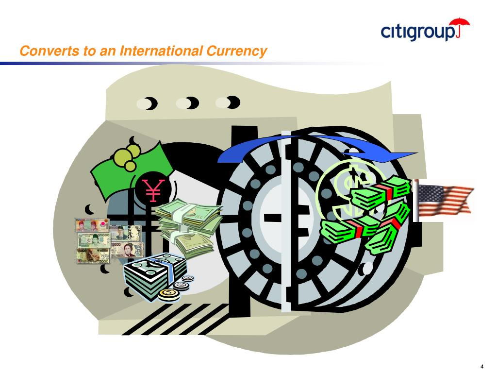 Converts to an International Currency