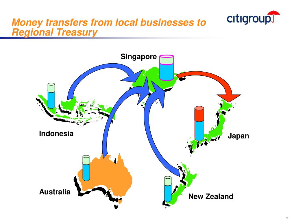 Money transfers from local businesses to