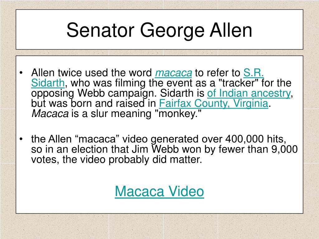 Senator George Allen