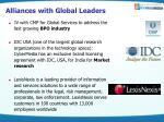 alliances with global leaders