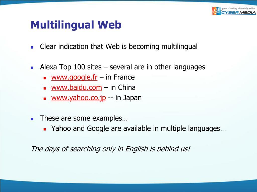 Multilingual Web