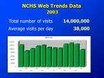 nchs web trends data 2003
