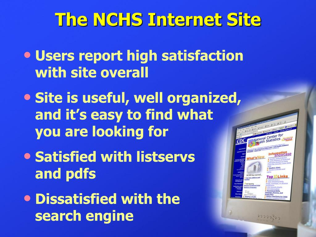 The NCHS Internet Site