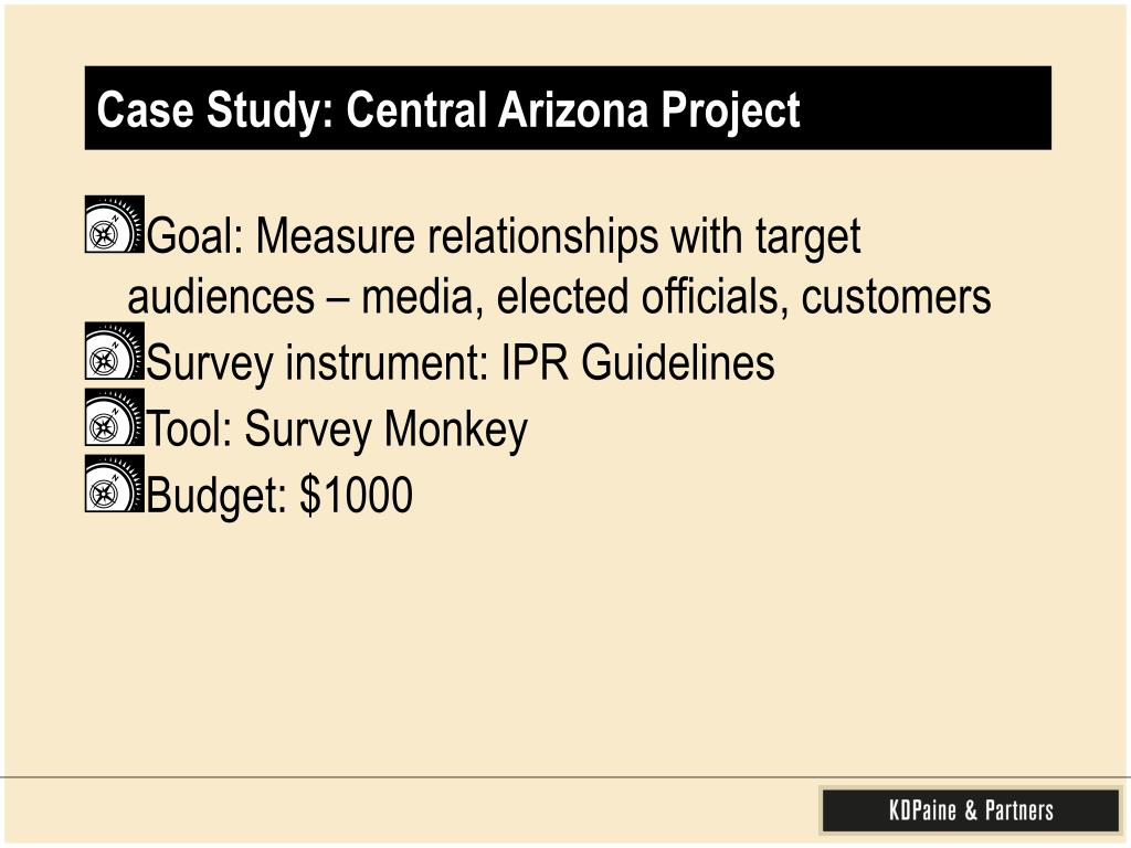 Case Study: Central Arizona Project