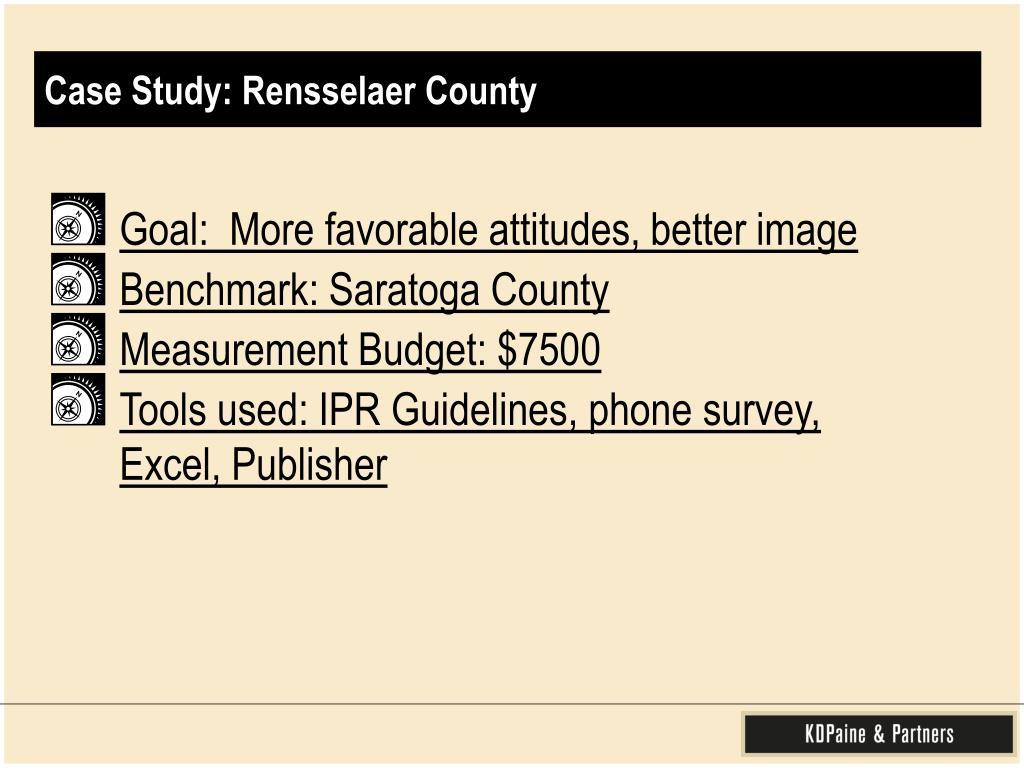 Case Study: Rensselaer County