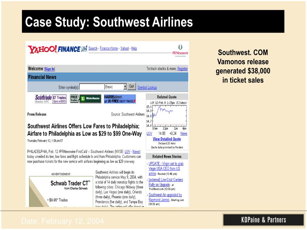 Case Study: Southwest Airlines