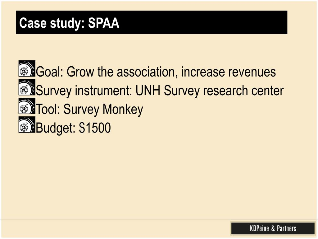 Case study: SPAA