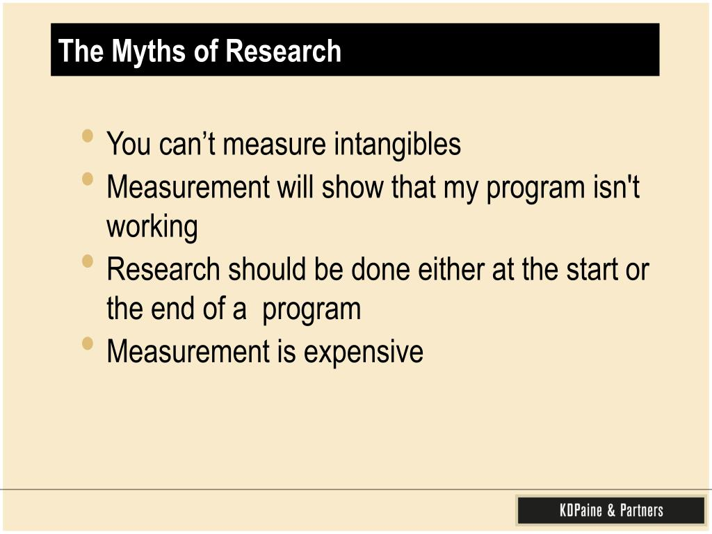 The Myths of Research