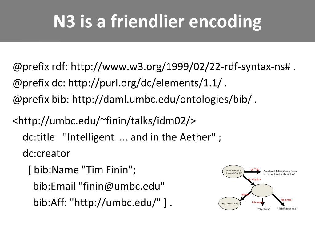 N3 is a friendlier encoding