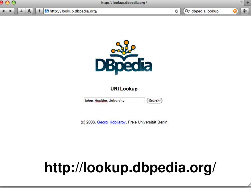 http://lookup.dbpedia.org/