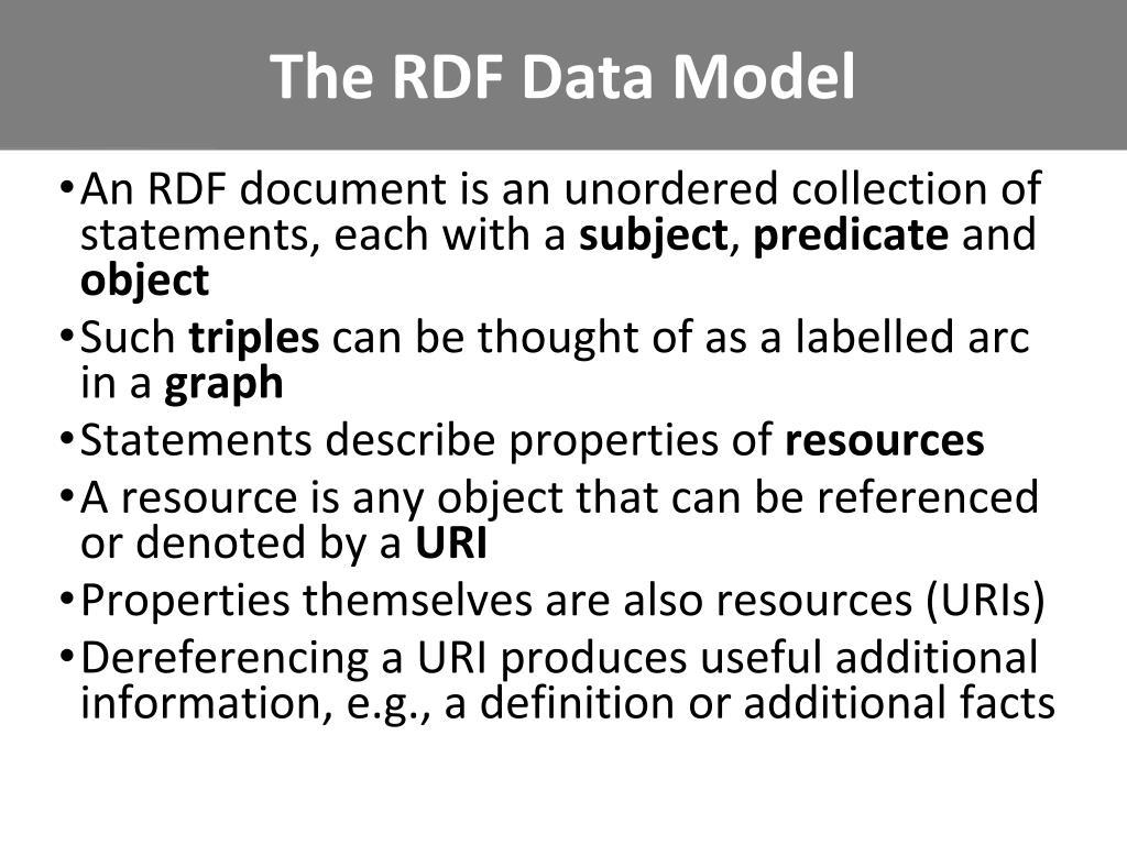 The RDF Data Model