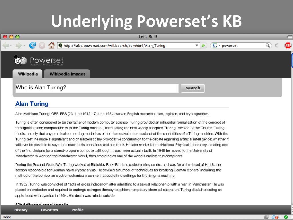 Underlying Powerset's KB