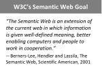 w3c s semantic web goal