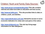 children youth and family data sources