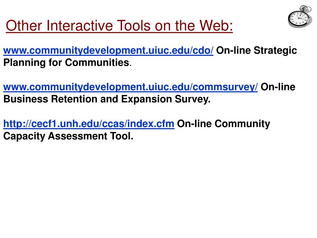 Other Interactive Tools on the Web: