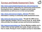 surveys and needs assessment tools