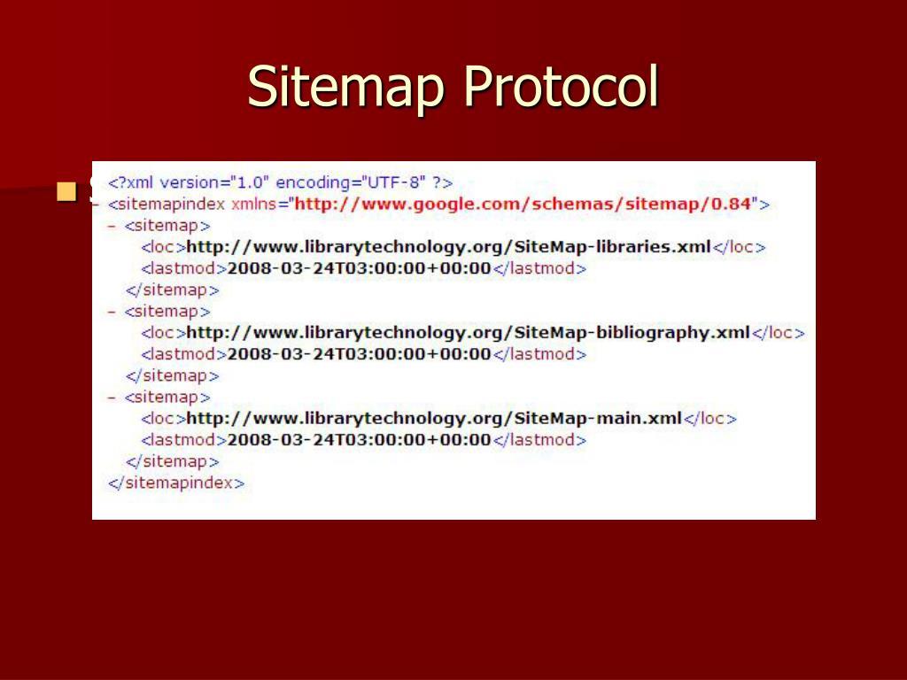 Sitemap Protocol