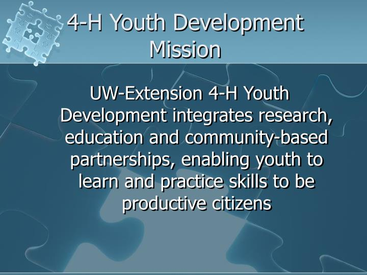 4-H Youth Development Mission