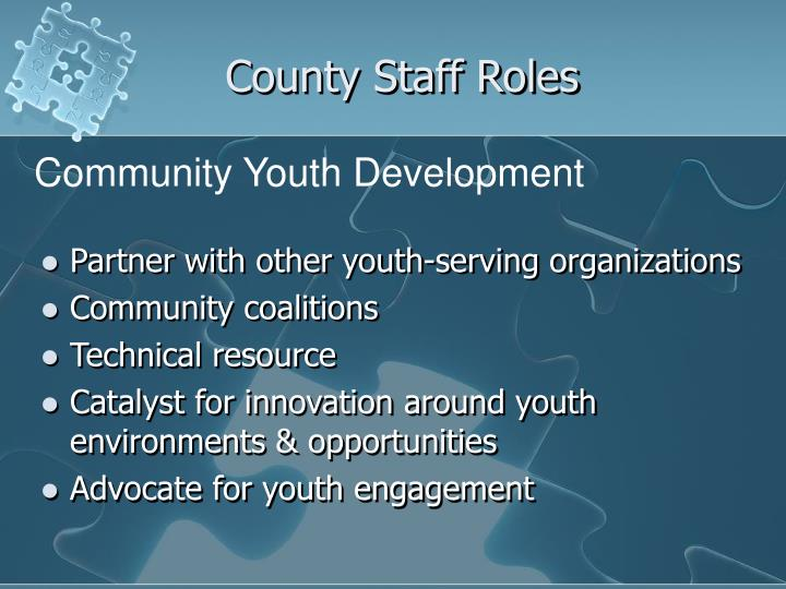 County Staff Roles