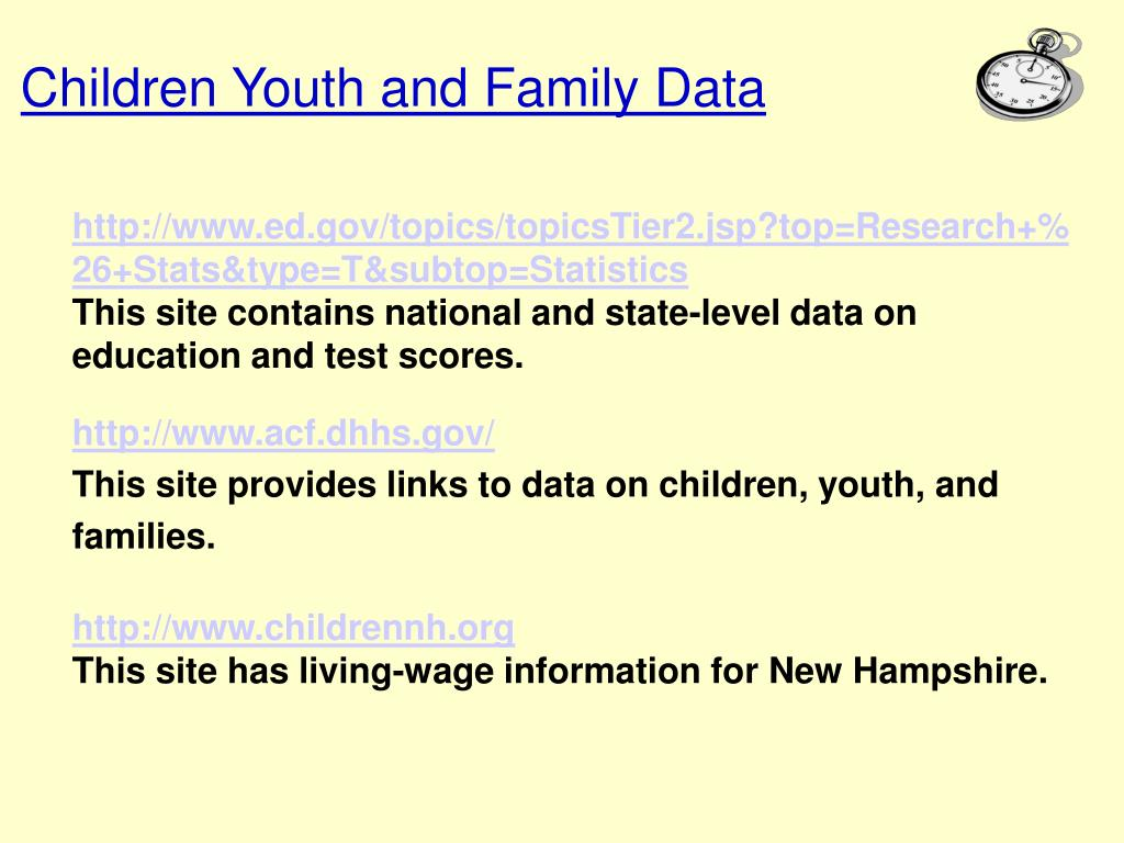 Children Youth and Family Data
