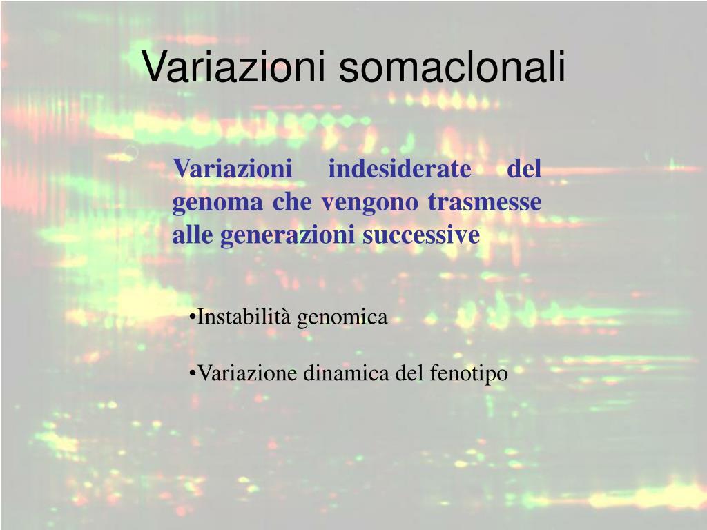 Variazioni somaclonali