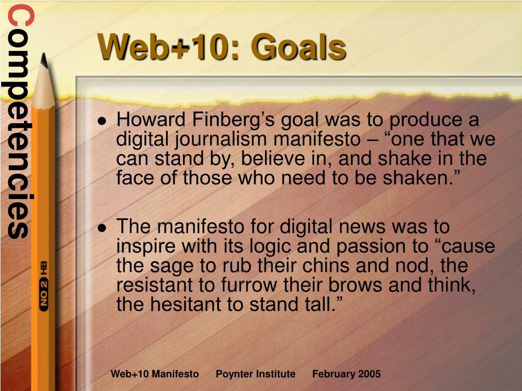 Web+10: Goals