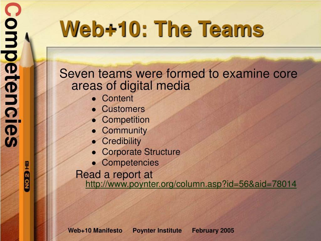 Web+10: The Teams
