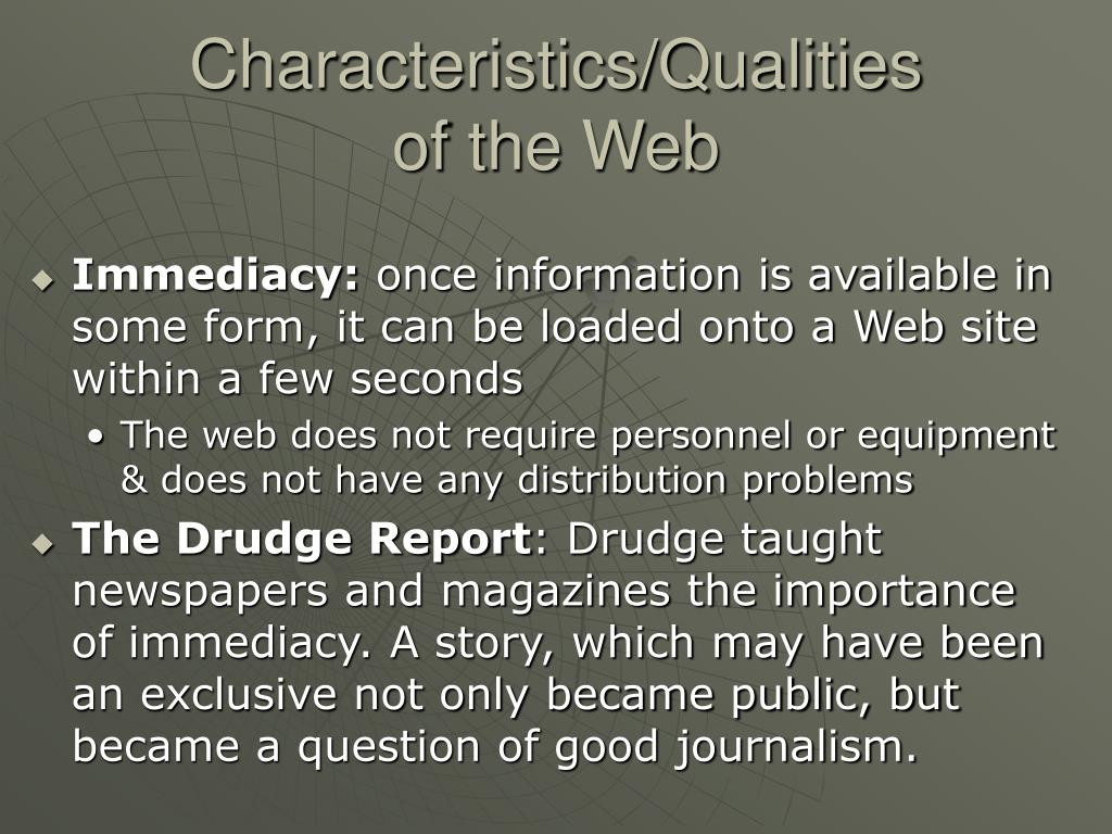 Characteristics/Qualities