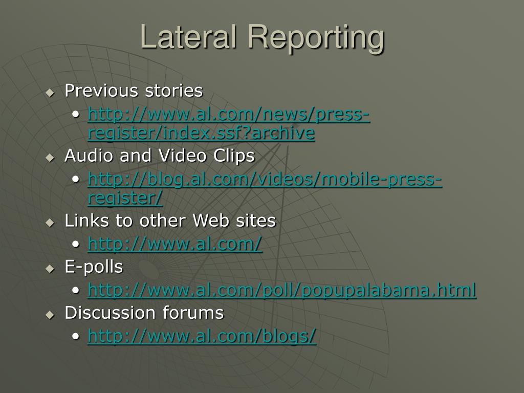 Lateral Reporting