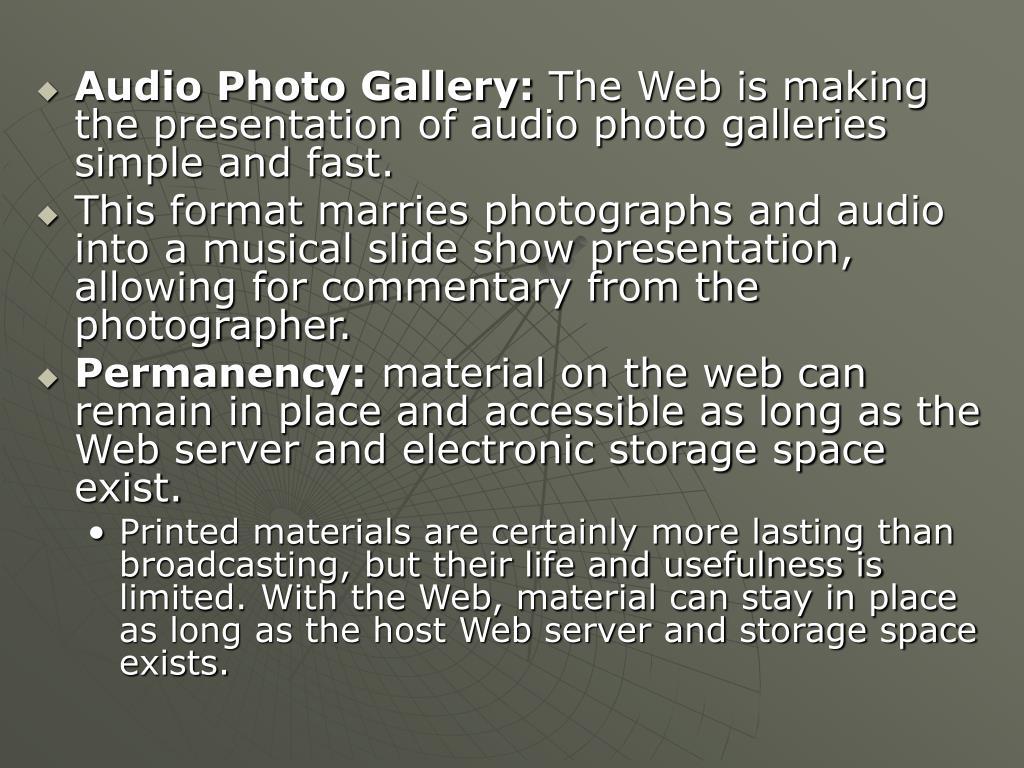 Audio Photo Gallery: