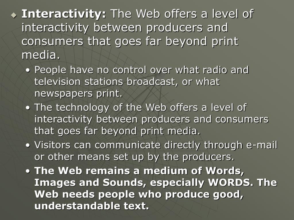Interactivity: