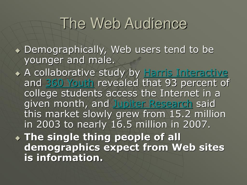 The Web Audience