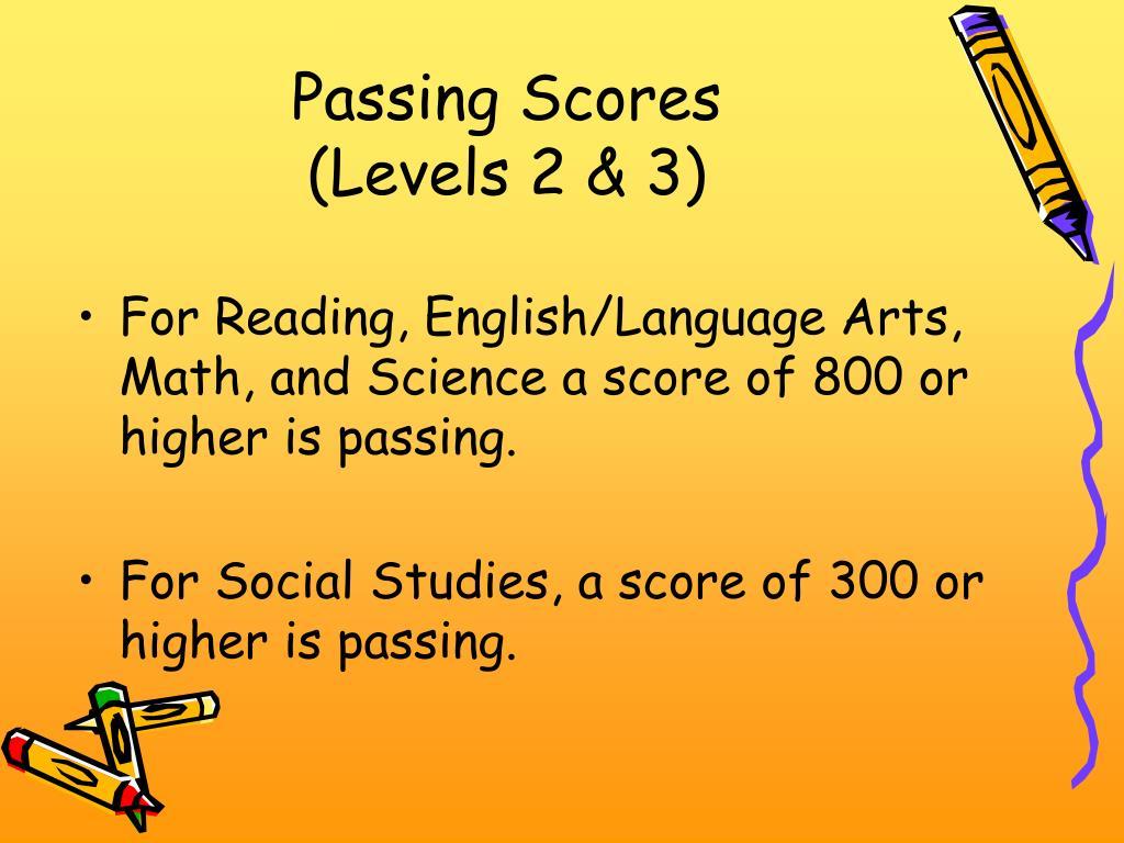 Passing Scores