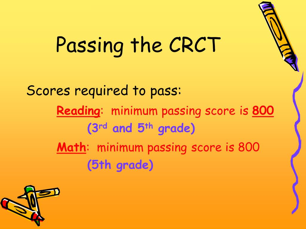 Passing the CRCT